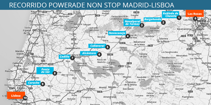 Mapa recorrido Powerade Ion4